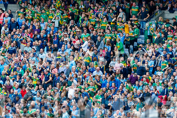 Spectators watch on  after the GAA Football All-Ireland Senior Championship Final match between Kerry and Dublin at Croke Park in Dublin on Sunday.