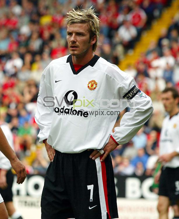 Pix: Rob Matthews/SWpix.com.  Soccer. FA Barclaycard Premiership. Charlton v Manchester United. 28/09/2002...COPYRIGHT PICTURE>>SIMON WILKINSON>>01943 436649>>..Manchester's David Beckham.