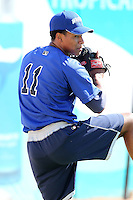 West Michigan Whitecaps pitcher Antonio Cruz (11) during a game vs. the South Bend Silver Hawks at Fifth Third Field in Comstock Park, Michigan August 16, 2010.   West Michigan defeated South Bend 3-2.  Photo By Mike Janes/Four Seam Images