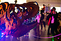 "A man takes a picture of a dinosaur skeleton during the Niconico Douga fan event at Makuhari Messe International Exhibition Hall on April 25, 2015, Chiba, Japan. The event includes special attractions such as J-pop concerts, Sumo and Pro Wrestling matches, cosplay and manga and various robot performances and is broadcast live on via the video-sharing site. Niconico Douga (in English ""Smiley, Smiley Video"") is one of Japan's biggest video community sites where users can upload, view, share videos and write comments directly in real time, creating a sense of a shared watching. According to the organizers more than 200,000 viewers for two days will see the event by internet. The popular event is held in all 11 halls of the huge Makuhari Messe exhibition center from April 25 to 26. (Photo by Rodrigo Reyes Marin/AFLO)"