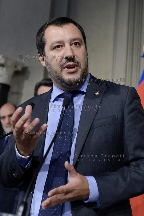 Roma, 14 Maggio 2018<br /> Matteo Salvini<br /> Consultazioni al Quirinale per la formazione del nuovo Governo