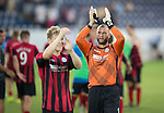 FC Luzern v St Johnstone...17.07.14  Europa League 2nd Round Qualifier<br /> Alan Mannus celebrates at full time<br /> Picture by Graeme Hart.<br /> Copyright Perthshire Picture Agency<br /> Tel: 01738 623350  Mobile: 07990 594431