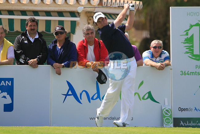 Shane Lowry (IRL) tees off on the 10th tee to start his round during Day 1 Thursday of the Open de Andalucia de Golf at Parador Golf Club Malaga 24th March 2011. (Photo Eoin Clarke/Golffile 2011)