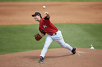 Kannapolis Intimidators starting pitcher Taylor Varnell (29) delivers a pitch to the plate against the Lexington Legends at Kannapolis Intimidators Stadium on May 15, 2019 in Kannapolis, North Carolina. The Legends defeated the Intimidators 4-2. (Brian Westerholt/Four Seam Images)