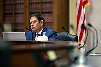 United States Senator Marco Rubio (Republican of Florida) listens during a United States Senate Committee on Small Business and Entrepreneurship hearing on Capitol Hill in Washington D.C., U.S., on Wednesday, June 3, 2020.  Credit: Stefani Reynolds / CNP/AdMedia
