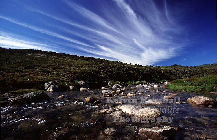 Mountain stream scenery - Charlotte's Pass (Mt Kosciuszko National park) NSW.