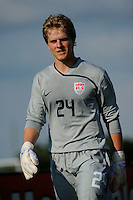 USA goalkeeper Brian Park (24). The US U-20 Men's National Team defeated the U-20 Men's National Team of Costa Rica 2-1 in an international friendly during day four of the US Soccer Development Academy  Spring Showcase in Sarasota, FL, on May 25, 2009.