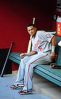 Jun. 2, 2011; Phoenix, AZ, USA; Washington Nationals shortstop Ian Desmond against the Arizona Diamondbacks at Chase Field. Mandatory Credit: Mark J. Rebilas-