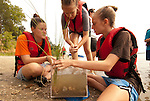 Children learn about Chesapeake Bay's natural systems during a NOAA sponsored summer camp in Virginia.