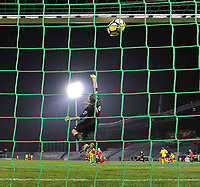 2018013 - LILLE , FRANCE : LOSC's goalkeeper Elisa Launay (16) is beaten on a terrible shot of Veronica Boquete for the 3th PSG goal pictured during the women soccer game between the women teams of Lille OSC and Paris Saint Germain  during the 13 th matchday for the Championship D1 Feminines at stade Lille Metropole , Saturday 13th of January ,  PHOTO Dirk Vuylsteke | Sportpix.Be