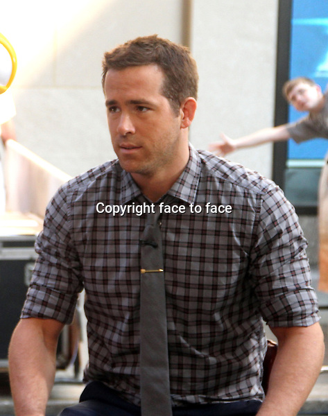 NEW YORK, NY - JULY 9: Ryan Reynolds vists NBC's Today Show promoting his new animated movie Turbo at Rockefeller Center in New York City. JUly 9, 2013.<br />