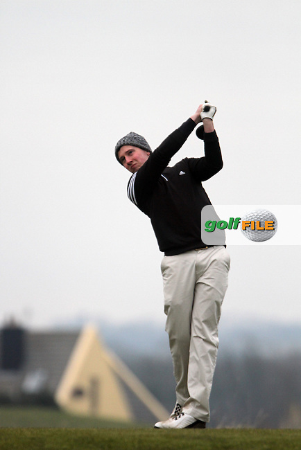 Mark Brennan (Clontarf) on the 11th tee at the Hilary Golf Society at Seapoint Golf Club, Co.Louth...(Photo Jenny Matthews/www.golffile.ie)