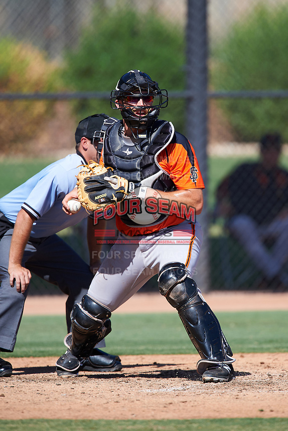 San Francisco Giants Matt Winn (13) during an Instructional League game against the Chicago White Sox on October 10, 2016 at the Camelback Ranch Complex in Glendale, Arizona.  (Mike Janes/Four Seam Images)