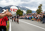 Tirol Cycling Team in action during the Men's Elite Team Time Trial of the 2018 UCI Road World Championships running 62.8km from &Ouml;tztal to Innsbruck, Innsbruck-Tirol, Austria 2018. 23rd September 2018.<br /> Picture: Innsbruck-Tirol 2018/Schels Sebastian | Cyclefile<br /> <br /> <br /> All photos usage must carry mandatory copyright credit (&copy; Cyclefile | Innsbruck-Tirol 2018/Schels Sebastian)
