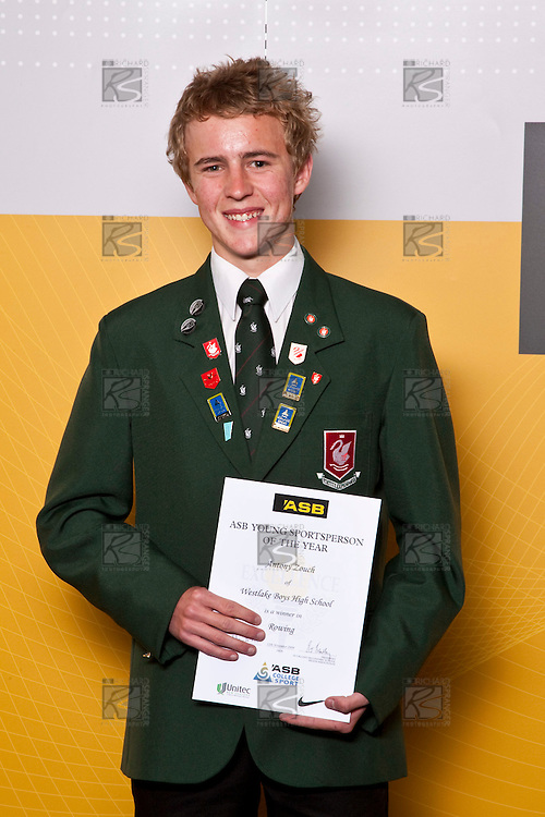 Boys Rowing winner Antony Zouch from Westlake Boys High School. ASB College Sport Auckland Secondary School Young Sports Person of the Year Awards held at Eden Park on Thursday 12th of September 2009.