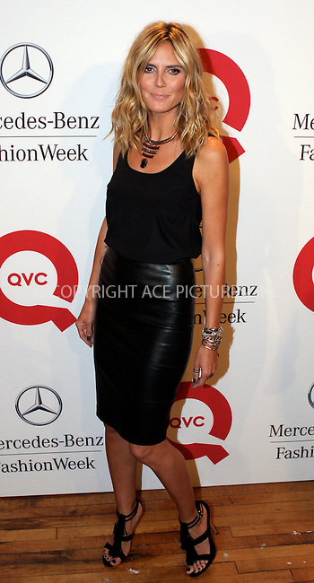 WWW.ACEPIXS.COM . . . . .  ....September 10 2011, New York City....Heidi Klum at the QVC Fashion Week Show at The Suspenders Building on September 10, 2011 in New York City. ....Please byline: NANCY RIVERA- ACEPIXS.COM.... *** ***..Ace Pictures, Inc:  ..Tel: 646 769 0430..e-mail: info@acepixs.com..web: http://www.acepixs.com