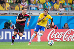 Mesut Ozil (GER), Luiz Gustavo (BRA), JULY 8, 2014 - Football / Soccer : FIFA World Cup Brazil 2014 Semi Final match between Brazil 1-7 Germany at Estadio Mineirao in Belo Horizonte, Brazil. (Photo by Maurizio Borsari/AFLO)