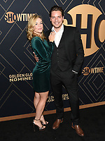 04 January 2020 - West Hollywood, California - Molly Burnett, Dominic Sherwood. Showtime Golden Globe Nominees Celebration held at Sunset Tower Hotel. Photo Credit: Billy Bennight/AdMedia