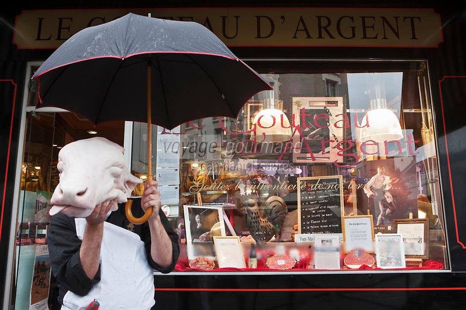 Europe/France/Ile de France/92/Hauts-de-Seine/ Asnières: Yves-Marie Le Bourdonnec - Boucherie: Le Couteau d'Argent [Non destiné à un usage publicitaire - Not intended for an advertising use]