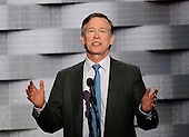 Governor John Hickenlooper (Democrat of Colorado) makes remarks during the fourth session of the 2016 Democratic National Convention at the Wells Fargo Center in Philadelphia, Pennsylvania on Thursday, July 28, 2016.<br /> Credit: Ron Sachs / CNP<br /> (RESTRICTION: NO New York or New Jersey Newspapers or newspapers within a 75 mile radius of New York City)