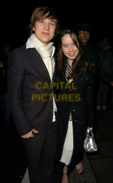 WILLIAM MOSELEY & ANNA POPPLEWELL.Finch & Partners' Pre-BAFTA Party,.Annabels, Berkely Square, London, England, .February 18th 2006..half length.Ref: CAN.www.capitalpictures.com.sales@capitalpictures.com.©Capital Pictures