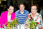 tL-R Louise Ryan, Shay Clinton and Breda Ryne at the Kilmoyley Tidy Towns and garden awards night in the community hall, kilmoyley last Friday.