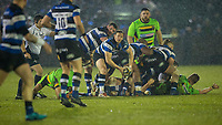 Bath Rugby's Chris Cook in action during todays match<br /> <br /> Photographer Bob Bradford/CameraSport<br /> <br /> Anglo-Welsh Cup Semi Final - Bath Rugby v  Northampton Saints - Friday 9th March 2018 - The Recreation Ground - Bath<br /> <br /> World Copyright &copy; 2018 CameraSport. All rights reserved. 43 Linden Ave. Countesthorpe. Leicester. England. LE8 5PG - Tel: +44 (0) 116 277 4147 - admin@camerasport.com - www.camerasport.com