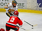 3 January 2009: University of Vermont Catamount forward Brian Roloff, a Junior from West Seneca, NY, in action against the St. Lawrence Saints during the championship game of the Catamount Cup Ice Hockey Tournament at Gutterson Fieldhouse in Burlington, Vermont. The Cats defeated the Saints 4-0 and won the tournament for the second time since its inception in 2005...Mandatory Photo Credit: Ed Wolfstein Photo