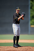 Pittsburgh Pirates pitcher Blake Weiman (74) looks in for the sign during a Florida Instructional League game against the New York Yankees on September 25, 2018 at Yankee Complex in Tampa, Florida.  (Mike Janes/Four Seam Images)
