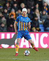 Shrewsbury Town's Mat Sadler<br /> <br /> Photographer Rob Newell/CameraSport<br /> <br /> The Emirates FA Cup Third Round - Shrewsbury Town v West Ham United - Sunday 7th January 2018 - New Meadow - Shrewsbury<br />  <br /> World Copyright &copy; 2018 CameraSport. All rights reserved. 43 Linden Ave. Countesthorpe. Leicester. England. LE8 5PG - Tel: +44 (0) 116 277 4147 - admin@camerasport.com - www.camerasport.com