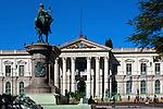 National Palace and Plaza Gerardo Barrios in San Salvador, El Salvador.