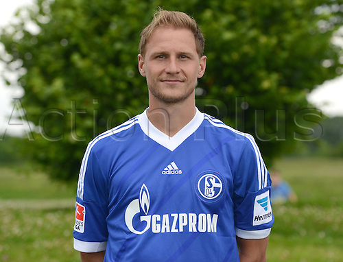 10.07.2013. Gelsenkirchen, Germany.  Player Benedikt Howedes  of German Bundesliga club FC Schalke 04 during the official photocall for the season 2013-14 on the 10th of July in 2013 at the colliery site Consol in Gelsenkirchen  North Rhine-Westphalia).