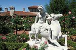 Roman style horse rider statue in garden at Casa del Sol, Hearst Castle San Simeon State Historic Park, California