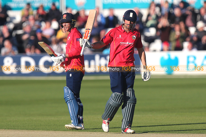 Alastair Cook of Essex celebrates scoring a half-century, 50 runs during Essex Eagles vs Middlesex, Royal London One-Day Cup Cricket at The Cloudfm County Ground on 12th May 2017