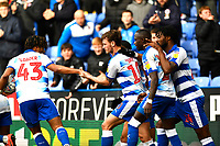 John Swift of Reading middle is congratulated on scoring to make the score 1-1- during Reading vs Wigan Athletic, Sky Bet EFL Championship Football at the Madejski Stadium on 9th March 2019