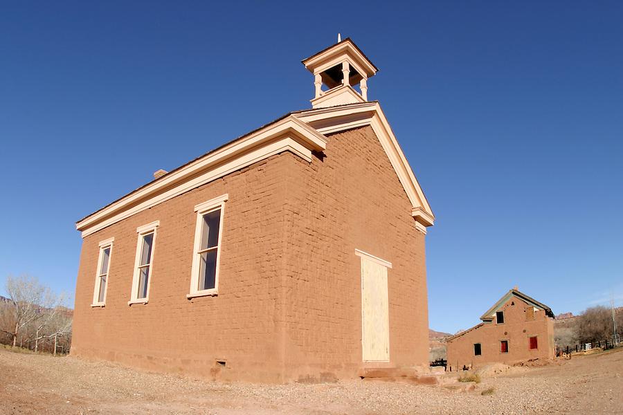 Abandoned church (circ 1886), Grafton (ghost town), Rockville, Washington County, UT