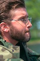 Thoughtful fisherman age 26.  Nisswa  Minnesota USA