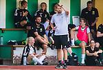 Stockholm 2015-07-11 Fotboll Damallsvenskan Hammarby IF DFF - Vittsj&ouml; GIK :  <br /> Hammarbys tr&auml;nare P&auml;r Lagerstr&ouml;m ser fundersam ut under matchen mellan Hammarby IF DFF och Vittsj&ouml; GIK <br /> (Foto: Kenta J&ouml;nsson) Nyckelord:  Fotboll Damallsvenskan Dam Damer Zinkensdamms IP Zinkensdamm Zinken Hammarby HIF Bajen Vittsj&ouml; GIK tr&auml;nare manager coach fundersam fundera t&auml;nka analysera depp besviken besvikelse sorg ledsen deppig nedst&auml;md uppgiven sad disappointment disappointed dejected