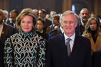 King Philippe & Queen Mathilde of Belgium attend the '1000 Voices for Peace' concert - Belgium