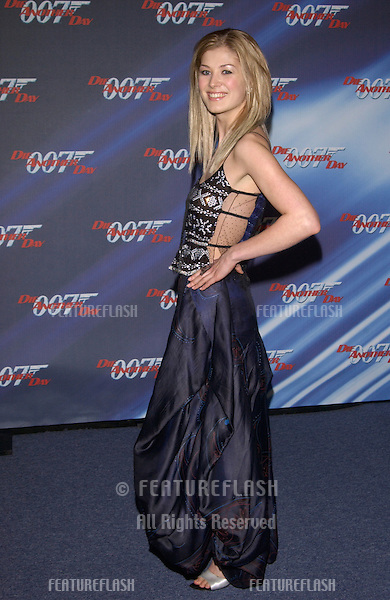 Actress ROSAMUND PIKE at the special screening in Los Angeles of her new James Bond movie Die Another Day..11NOV2002.  © Paul Smith / Featureflash