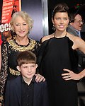 Helen Mirren,Felix Mirren and Jessica Biel attends the Fox Searchlight Premiere of Hitchcock held at The Academy of Motion Pictures,Arts & Sciences in Beverly Hills, California on November 20,2012                                                                               © 2012 DVS / Hollywood Press Agency