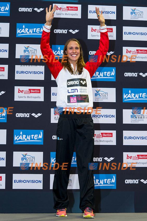PEDERSEN Rikke Moeller DEN Gold Medal<br /> 100m Breaststroke Women Final<br /> 32nd LEN European Championships <br /> Berlin, Germany 2014  Aug.13 th - Aug. 24 th<br /> Day08 - Aug. 20<br /> Photo G. Scala/Deepbluemedia/Inside