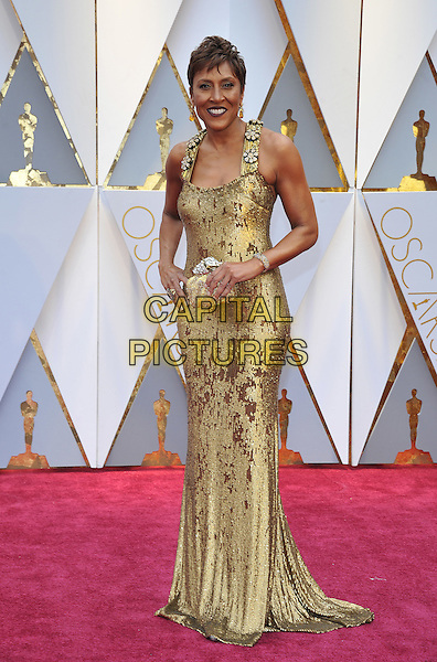 HOLLYWOOD - FEBRUARY 26: Robin Roberts attends the 89th Annual Academy Awards at the Dolby Theatre on February 26, 2017 in Hollywood, California. <br /> CAP/MPI99<br /> &copy;MPI99/Capital Pictures