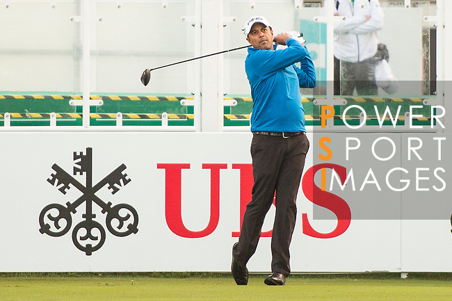 Arjun Atwal of India tees off the first hole during the 58th UBS Hong Kong Open as part of the European Tour on 08 December 2016, at the Hong Kong Golf Club, Fanling, Hong Kong, China. Photo by Marcio Rodrigo Machado / Power Sport Images
