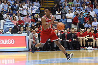 CHAPEL HILL, NC - FEBRUARY 25: Markell Johnson #11 of North Carolina State University runs with the ball during a game between NC State and North Carolina at Dean E. Smith Center on February 25, 2020 in Chapel Hill, North Carolina.