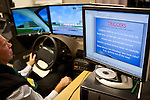 A checklist of triggers for veterans is next to a driving simulator at the VA hospital in Palo Alto, Calif., December 15, 2011.