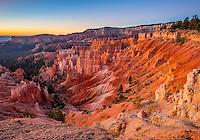 Bryce Canyon National Park, UT: Sunrise on the Bryce Ampitheater at sunrise point