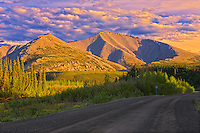 Ogilvie  Mountains on the Dempster Highway (KM 220)<br /> Dempster Highway<br /> Yukon<br /> Canada