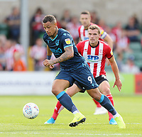 Bristol Rovers' Jonson Clarke-Harris gets away from Lincoln City's Harry Toffolo<br /> <br /> Photographer Rich Linley/CameraSport<br /> <br /> The EFL Sky Bet League One - Lincoln City v Bristol Rovers - Saturday September 14th 2019 - Sincil Bank - Lincoln<br /> <br /> World Copyright © 2019 CameraSport. All rights reserved. 43 Linden Ave. Countesthorpe. Leicester. England. LE8 5PG - Tel: +44 (0) 116 277 4147 - admin@camerasport.com - www.camerasport.com