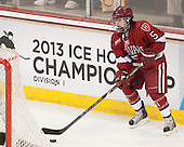 Kelsey Romatoski (Harvard - 5) - The Boston College Eagles defeated the visiting Harvard University Crimson 3-1 in their NCAA quarterfinal matchup on Saturday, March 16, 2013, at Kelley Rink in Conte Forum in Chestnut Hill, Massachusetts.